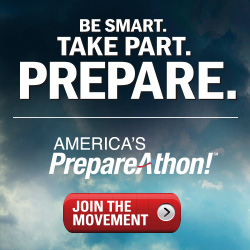 Be Smart.  Take Part.  Prepare.  America's PrepareAthon! logo